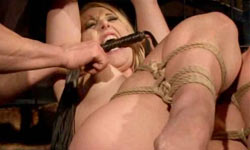 Blonde tied and fucked