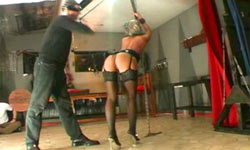 Whipping of German sub girl