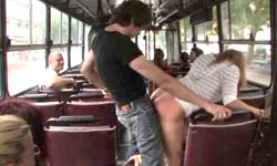 Fucking on a public bus